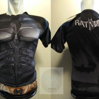 Kaos Super Hero Baju Polos UnderArmour batman BEGINS Body Fit