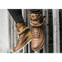 Sepatu Nike Special Field SF Air Force 1 High Brown Premium Original