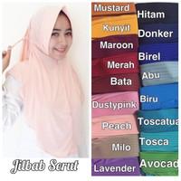 Jilbab Serut Polos Adiba Serut Jokowi Kerudung Hijab Instan Murah