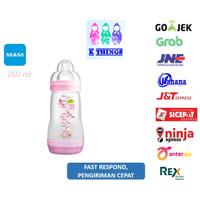 Botol Susu MAM Anti Colic Bottle 0+ Months 260ml - Pink / Merah Muda