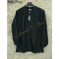 Baju Koko - Murah - Lengan Panjang - Warna Hitam