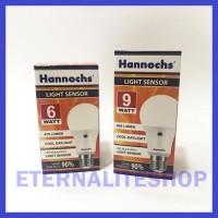 LIGHT SENSOR LED BULB / HANNOCHS LAMPU SENSOR CAHAYA 6W
