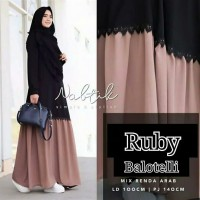 Pakaian Baju Busana Muslim Wanita Maxi Dress RUBY Gamis Termurah