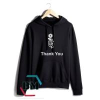 jaket sweater hoodie wanita BTS love yourself jungkook - hitam