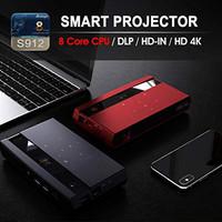 New EZZRALE Smart mini ocket H96 MAX Octa Core DLP Projector ORIGINAL - Merah