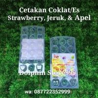 Cetakan Coklat Bentuk Buah (Strawberry, Jeruk, Apel)/Cetakan Es/Puding