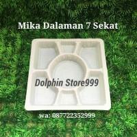 Mika 7 Sekat (50 Pcs)/Box Tumpeng Mini Sekat/Mika Kotak Nasi Tumpeng