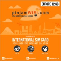Sim Card Eropa 12 GB for 30 Days | Travel Sim Card Europe
