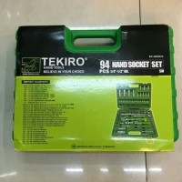 "TEKIRO kunci shock set 94 pcs 6 PT 1/4"" - 1/3"" Dr box plastik"
