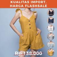 CRG181224 - Malakai Jumpsuit Sleeveless Short Pants Jumpsuit Cotton Ra