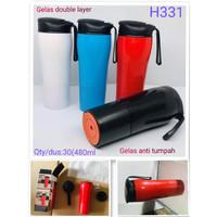 Mighty mug botol termos anti tumpah tumbler H331