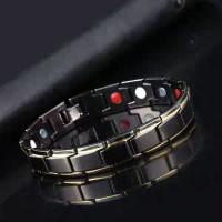 Gelang Import Pria Magnet Kesehatan Titanium Stainless Steel - 02 TT