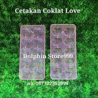 Cetakan Coklat Love / Cetakan Es Batu Love / Cetakan Agar Jelly