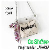 Tas Selempang Wanita - Tas Boutique Transparan 2IN1 - Sling Bag - TR02