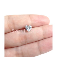 Anting Tusuk Titanium Zircon Heart Love Hati Anti Karat