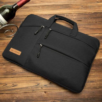 Tas Laptop Midway Black Multi Pocket with Hand Strap 14 inch