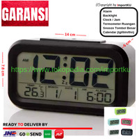 Jam Meja Digital - Jam Weker - Alarm - Digital Smart Clock Hitam - 01