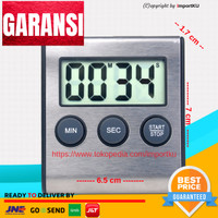 Digital Timer Alarm Kitchen Magnetic - Stainless Steel NEW