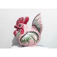 Celengan Ayam Tanah Liat (Warna Merah Muda)