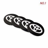 Emblem Dop Velg Toyota Black 1set Isi 4