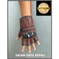 Sarung Tangan Kulit Batok Motor Kulit Domba Glove asli Garut ORI - COKELAT