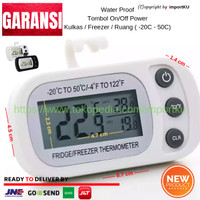 Termometer Digital Kulkas Freezer in out Tahan Air LCD Lebar 2019 Pth