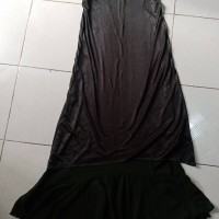 PL DOUBLE LAYER DARK GREEN LONG DRESS
