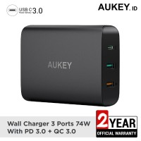 Aukey Charger 74.5W with PD 3.0, Quick Charge 3.0 & Aipower - 500303