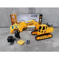Mainan Mobil RC Excavator Digger Mobil Keruk Alat Berat Baterai Charge
