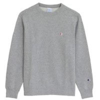 TERLARIS TERBAIK CHAMPION SMALL C CREWNECK - GREY - ABU-ABU, XL