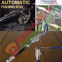Joran Pancing Otomatis Stainless Steel Tanpa Spool 2,7m - MALANG