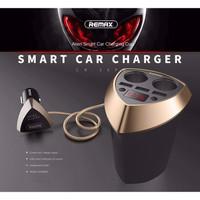 Original REMAX CR-3XP Alien Smart Car Charger 5V 3.4A 3-USB 2 Lighter