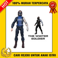 Mainan Action Figure The Winter Soldier Pose Marvel Avengers Bagus