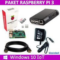 Paket Mini PC Raspberry Pi 3 dengan Windows 10 IoT Core