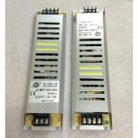 Power Supply 12V 10A Body Slim Tipis Panjang Switching 12 Volt 10 A