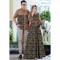 couple depita mocca batik baju pasangan gamis wanita kemeja cp dep vt