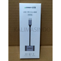 UGREEN Adapter USB Type C to AUX 3.5mm Headphone + USB Type C