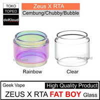 Fat Boy ZEUS X RTA Replacement Glass | 25mm 25 kaca cembung bubble