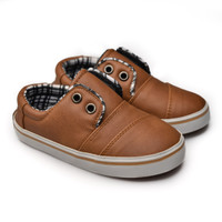 FirstLight.id K03 Leather Brown sepatu anak balita gratis kaos kaki