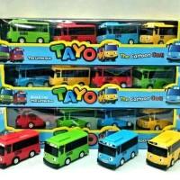 mainan anak bus tayo pull back ( 4 pcs) the little bus