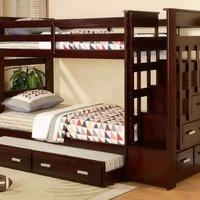 dipan tempat tidur tingkat anak jati minimalis - furniture - kamar set