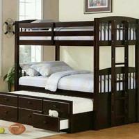 tempat tidur dipan ranjang tingkat anak jati jepara - kamar set - meja