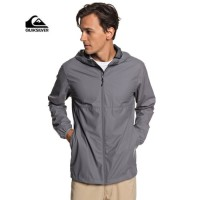 JAKET QUIKSILVER KAMAKURA RAIN COAT WINDBREAKER GREY-JAKET TRAVEL PRIA