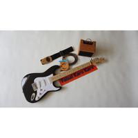 Gitar Listrik Fender Stratocaster Hitam Paketan