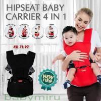 Grosir Kiddy Hipseat Baby Carrier 4 in 1 Gendongan Bayi - 0-6 tahun, M