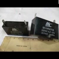 Kapasitor kotak 6uF 6 uF 250 VAC merek MC