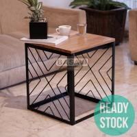 Meja Tamu Kayu Jati Solid - Kopi - Side - Coffee Table - Cafe - Resto