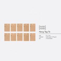 Hang Tag To - Label Alamat / Nama / Pesan Singkat