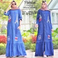 Baju Terusan Wanita Muslim Longdress Parka Jeana Maxy Shasmira
