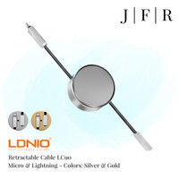 LDNIO Retractable Lightning & Mikro USB Micro Kabel Data 2 in 1 LC90